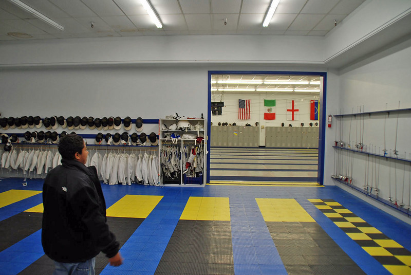 Seth at the Northwest Fencing Center.