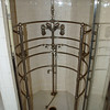 The master bath had a shower with multiple shower heads facing several directions, including straight upwards.