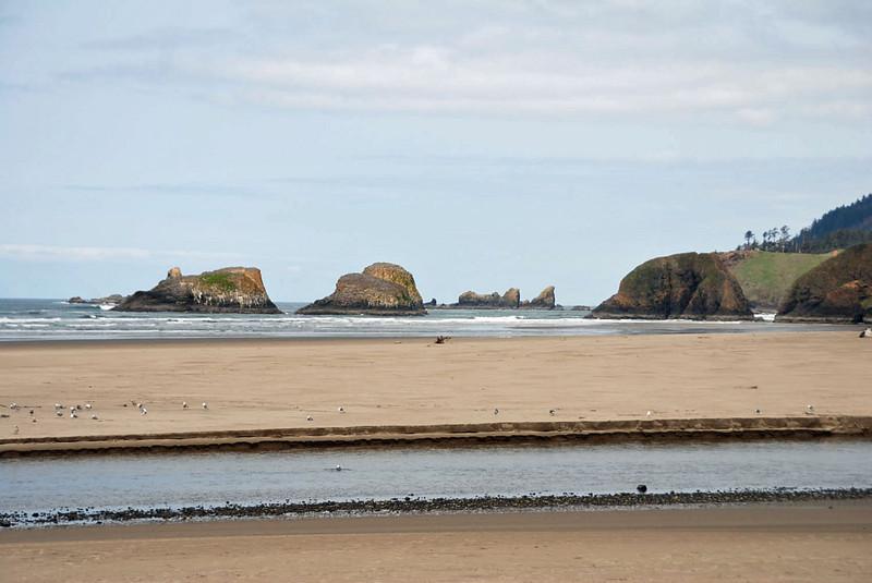 The sea coast at Cannon Beach, Oregon.