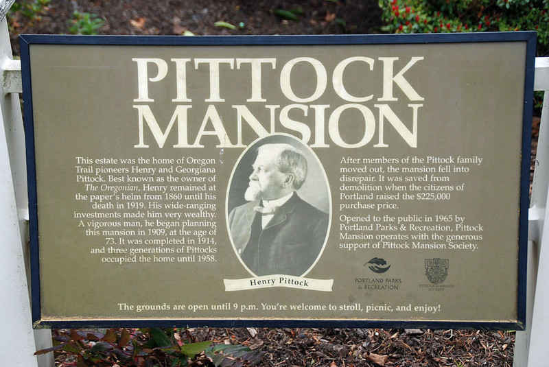 We visited the Pittock Mansion in Portland, Oregon.  It was completed in 1914.