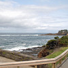 The Pacific shore looking north from Depoe Bay, Oregon.