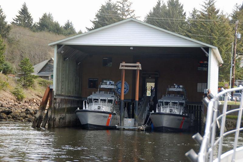 The Coast Guard Station at Depoe Bay.