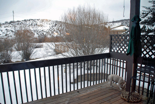 The view from Arnie & Manette's balcony in Park City, UT.