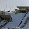 The 90-foot and 120-foot nordic ski jump area at the Utah Olympic Park.