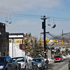 Ski lift in the center of town in Park City, UT.