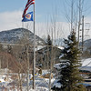 US flag at the firehouse near Arnie & Manette's condo in Park City, UT.