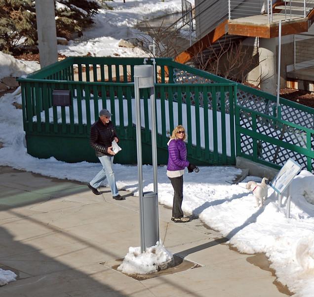 Arnie, Manette & Crosby at the Utah Olympic Park.