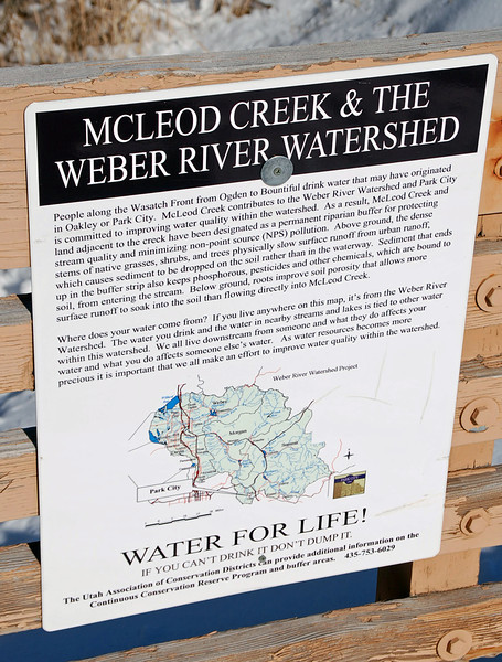McLeod Creek and the Weber River Watershed.
