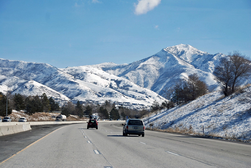 The Wasatch Mountains on the way to Park City, UT.