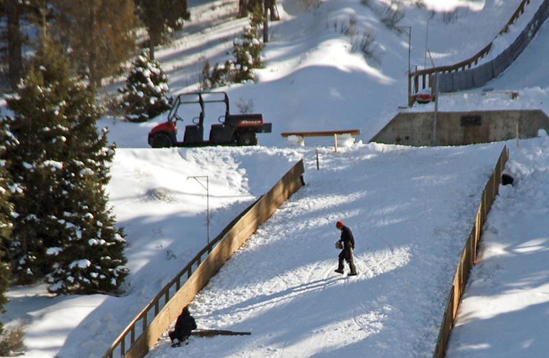 Maintaining 120-foot nordic ski jump area at the Utah Olympic Park.