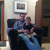 Bruce Wonnacott with his son Charlie.