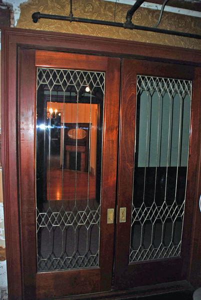 Doors near the main entry.