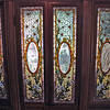 "The ""Daisy"" stained glass windows."