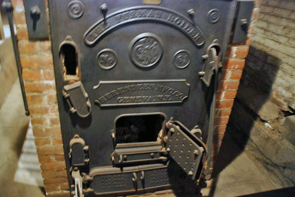 The main coal furnace at Winchester House.