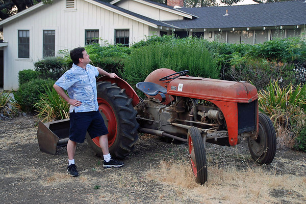 "Bruce Wonnacott ""inherited"" a used tractor when he bought the property."