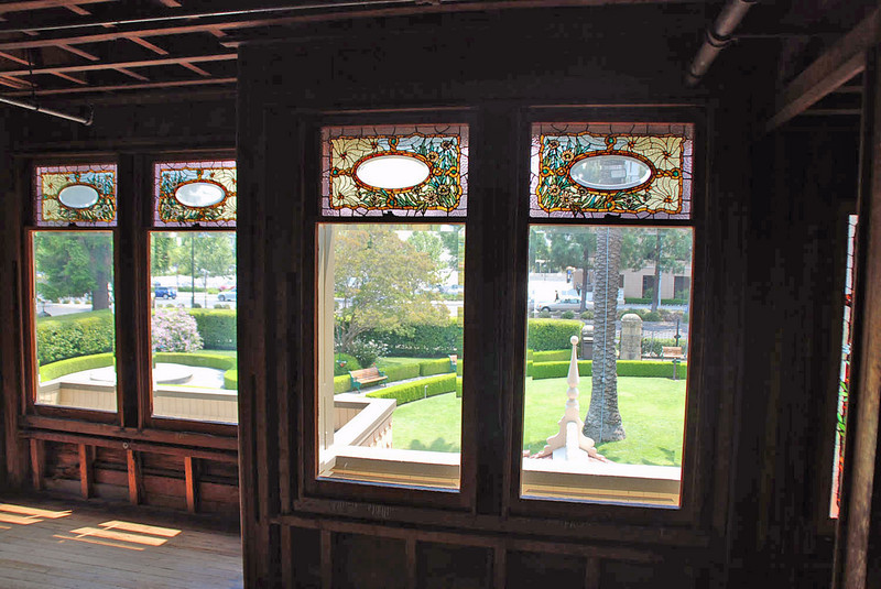 More stained glass windows in the Daisy bedroom.