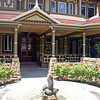 The main entrance to Winchester House.