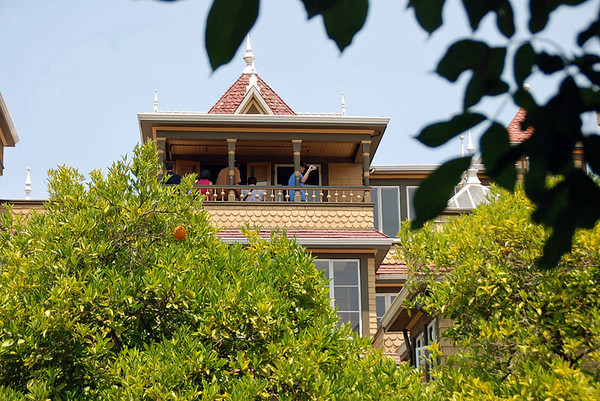 A balcony at Winchester House.
