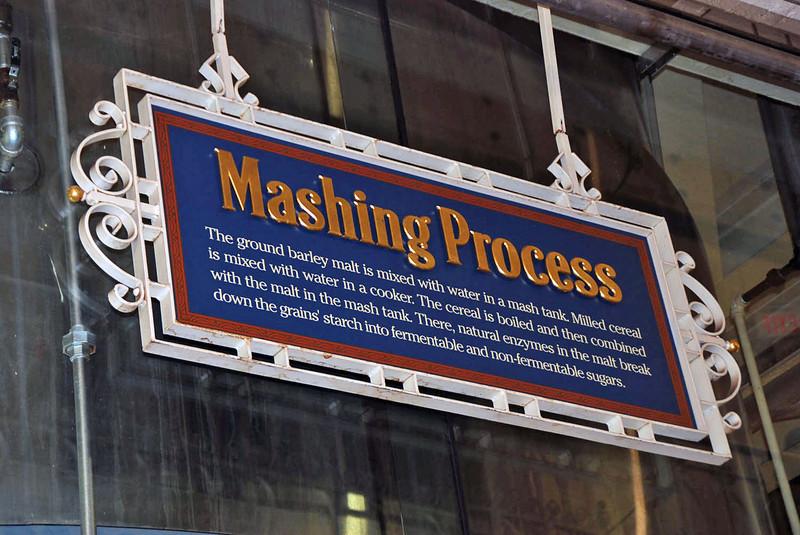 The mashing process.