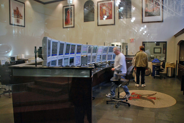 The control center at the Budweiser Brewery.