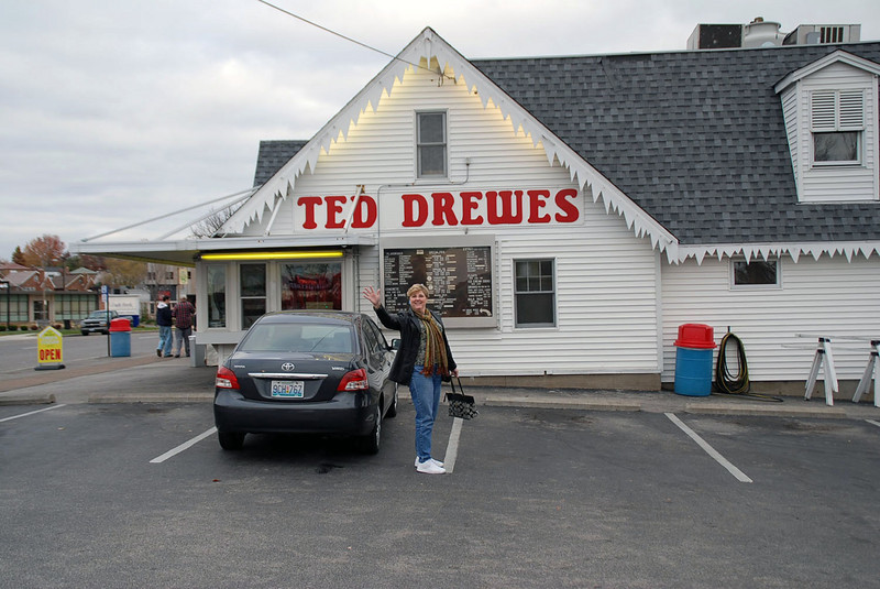 We visited Ted Drewes Frozen Custard in St. Louis.