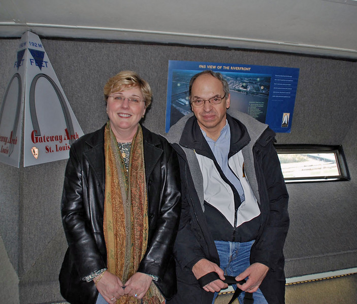 Ray and Jean at the top of the Gateway Arch.