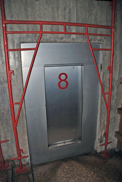 The entry door to the elevator to the top of the Gateway Arch.