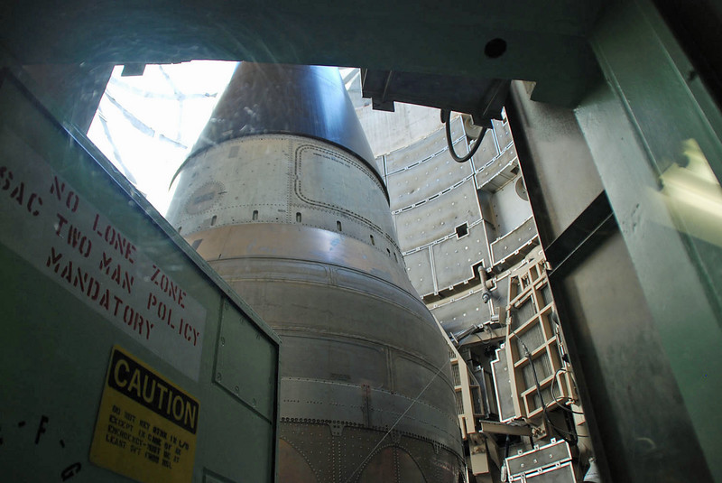 A view of the missile in the silo.