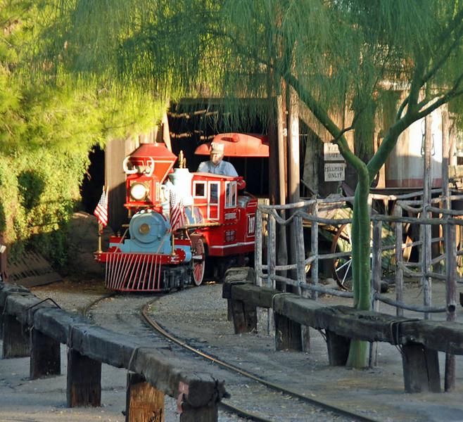 Railroad at the Trail Dust Town, Pinnacle Peak, Tucson, AZ.