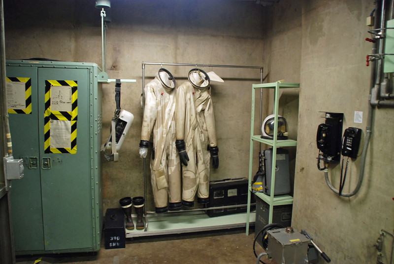 Crew suits used to load and unload the toxic fuel.