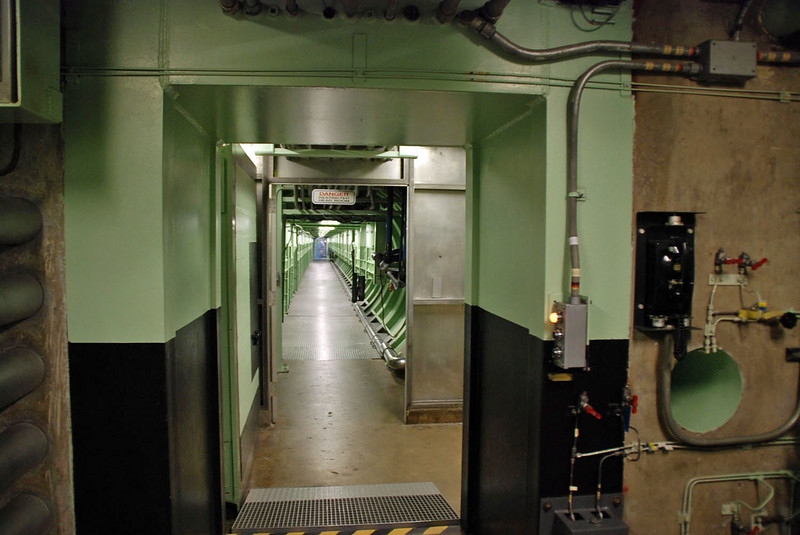 The long corridor leading to the Titan silo from the Command Center.