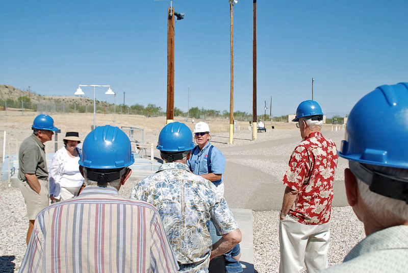 Guided tour of the above ground facility at the Titan Missile Museum.