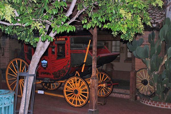 Stagecoach at the Trail Dust Town, Pinnacle Peak, Tucson, AZ.