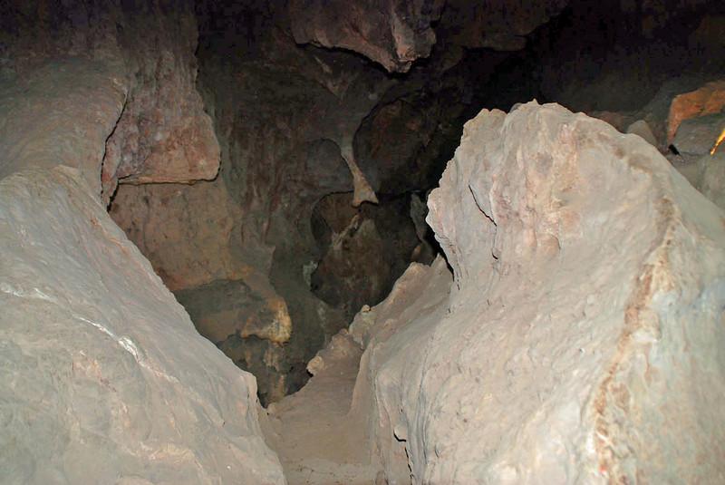 Inside Colossal Cave, Tucson, AZ