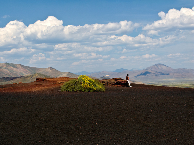 View from atop a Cinder Cone, Craters of the Moon NM