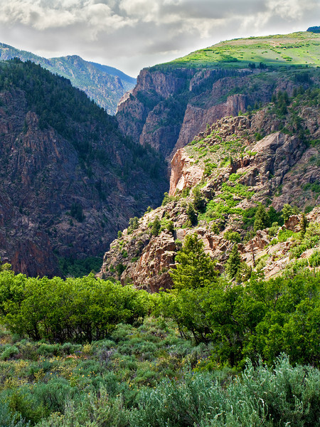Approaching Black Canyon of the Gunnison NM, CO