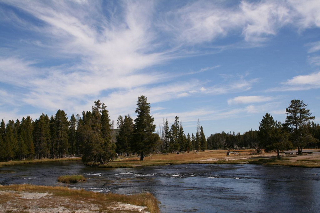 Firehole River, Yellowstone National Park.