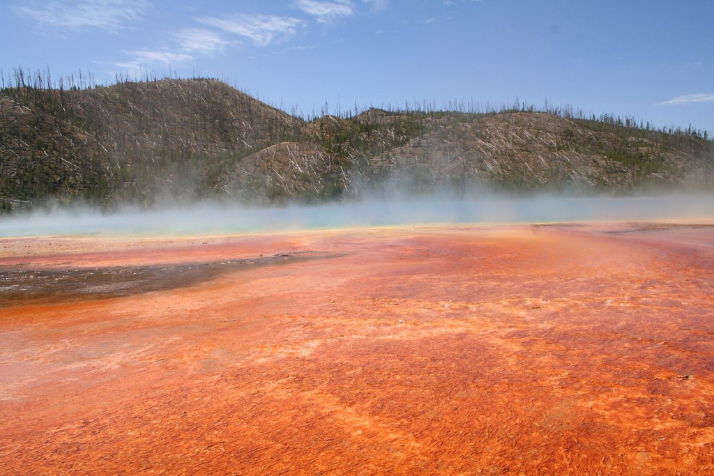 Grand Prismatic Spring, Midway Geyser Basin, Yellowstone National Park.