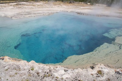 Sapphire Pool, Biscuit Basin, Yellowstone National Park.