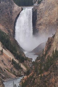Lower Falls at the Grand Canyon of the Yellowstone.