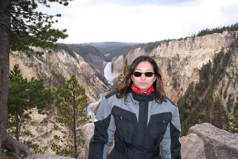 Artist Point at the Grand Canyon of the Yellowstone.