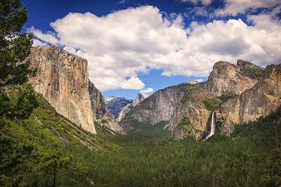 Artist Point, El Capitan (left), Half Dome (center), Yosemite Falls (right)