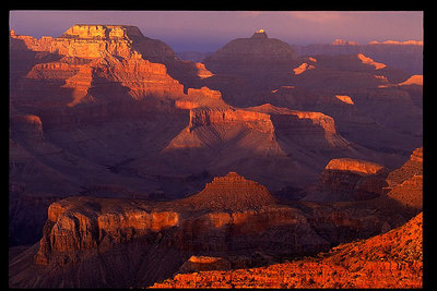 Grand Canyon National Park, AZ Sunset on the South Rim