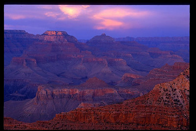 Grand Canyon National Park, AZ South Rim right after the sunset