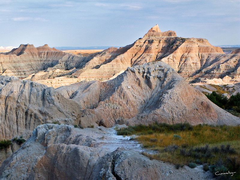 Badland Peaks above the Valley