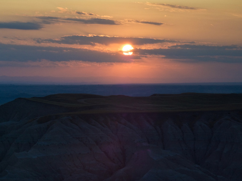Sunset over a Badlands Plateau
