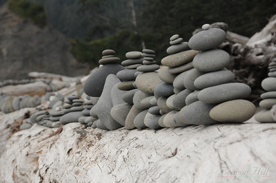 At the next campsite over, someone was really bored. But made an impressive rock sculpture.