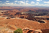 This is looking down on Monument Basin in Canyonlands National Park.  Photographed from Island In The Sky's  Grand View Point Overlook.