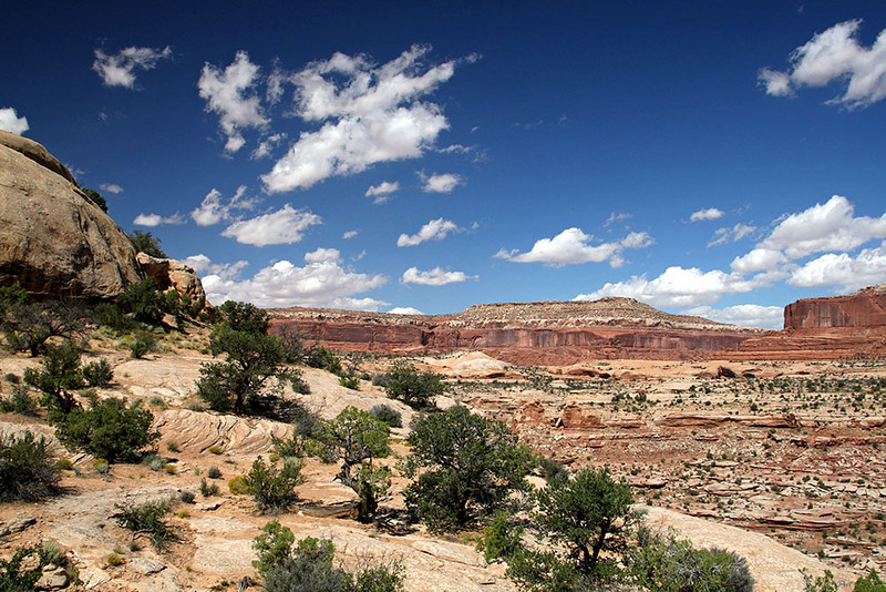 This is looking north on the way into Canyonlands National Park from the east.