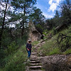 Barbara on the Trail to The Gila Cliff Dwellings